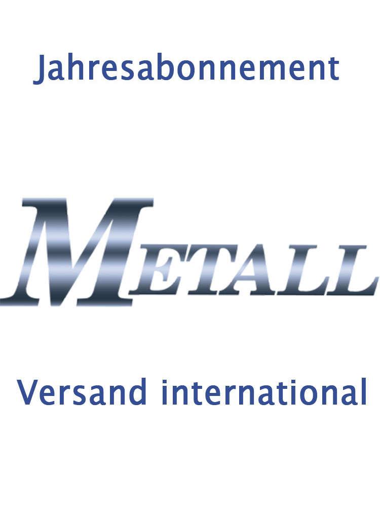 Jahresabo Metall 2018 Versand International Gdmb Online Shop